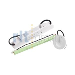 EMELED - 5W LED Downlight, 3hr Non Maintained silver 78mm Cutout