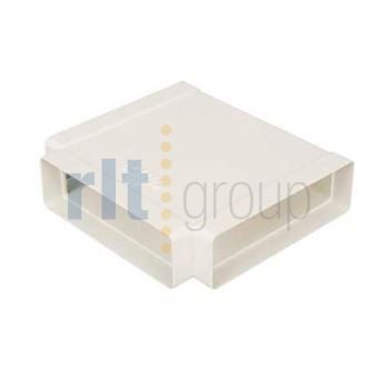 100x54mm Flat Channel Ducting T Piece