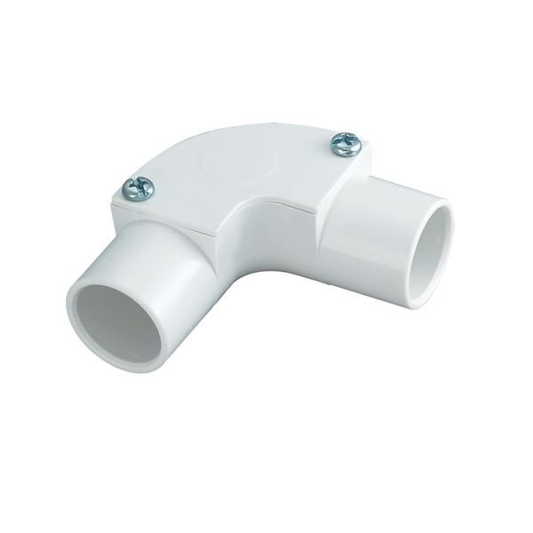 Inspection elbow 20mm for plastic conduit white