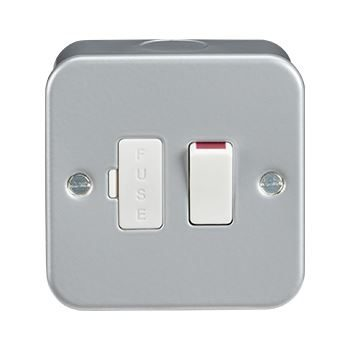 Metal Clad 13A Switched Fused Spur