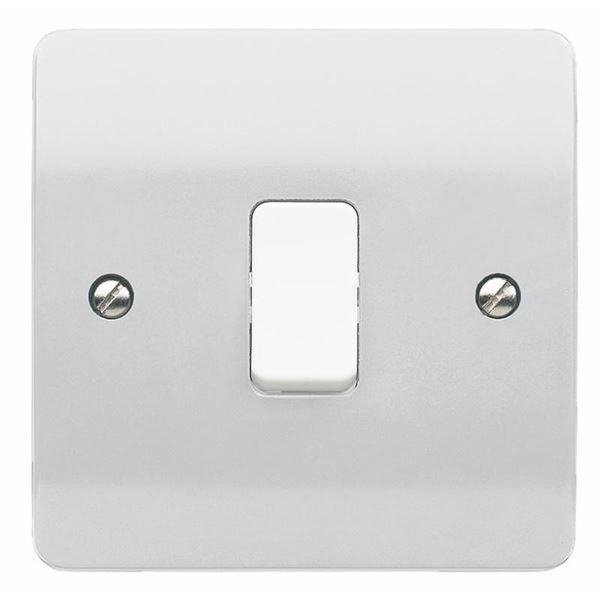 Grid Switch Flush 1-Gang Front Plate, White-MK