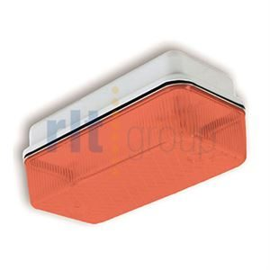 SAURUSLED - 8W LED Polycarbonate bulkhead Luminaire - Red
