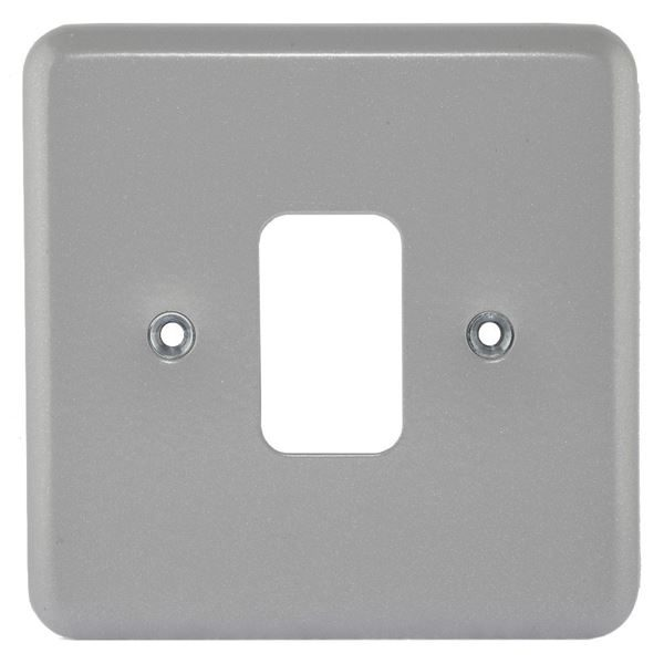 Grid Switch -  Metal Clad 1-Gang Front Plate - MK