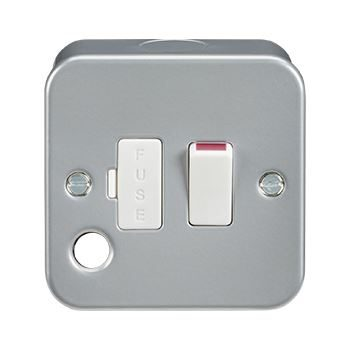 Metal Clad 13A Switched Fused Spur c/w Front Flex Outlet