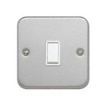Metal Clad 10A 1 Gang 2 Way Switch
