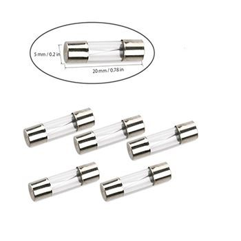5x20mm fast glass fuse 1A (pk10)