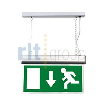 DELTIKLED - Hanging Emergency Sign LED - Chrome