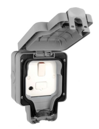 MK masterseal IP66 13A switch fused spur outlet