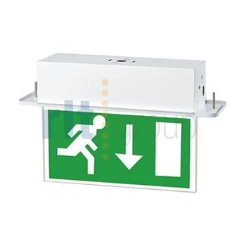 DELTIKLED - Recessed Blade Emergency LED Arrow Down 3hr Maintained