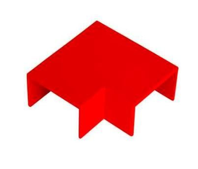 Red Flat Bend 25 x 16mm