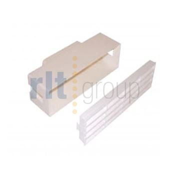 100x54mm Flat Channel Ducting Horizontal air brick grille